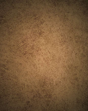 brown: dark brown old paper or abstract brown background illustration old vintage texture and darker black grunge border frame for brochure or ad, brown parchment paper with stains and rough texture design