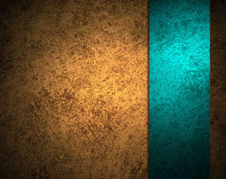 papel tapiz turquesa: fondo de oro abstracto con franja azul de la cinta o barra lateral en la marco de la frontera, tiene fondo vintage grunge dise�o de textura con la iluminaci�n, el fondo de lujo elegante, el papel del oro marr�n o fondo de pantalla