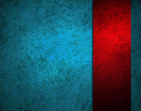 프레임의 테두리에 추상 파란색 배경이 밝은 빨간색 리본 스트라이프 빈티지 그런 지 배경 질감과 선명한 색상과 스포트라이트, 텍스트 우아한 메뉴