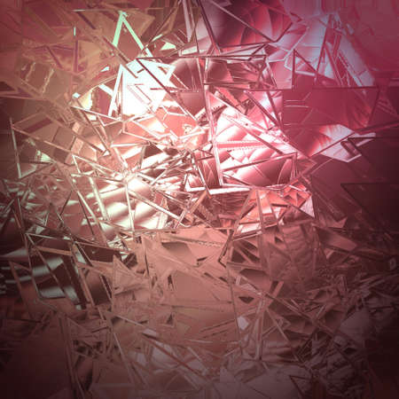 shattered glass: abstract pink background shattered glass with white beautiful background light texture has sharp jagged pieces of broken glass illustration for web app background design cover or classy ad brochure