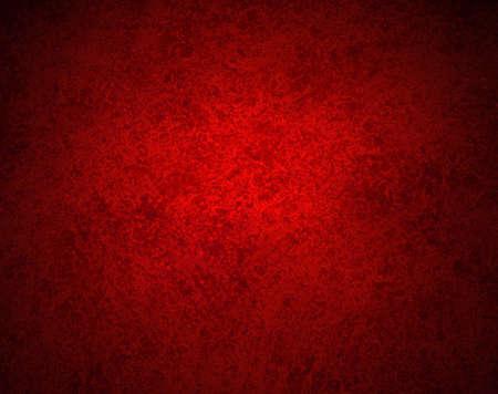 abstracte rode achtergrond met oude zwart vintage grunge achtergrond textuur, grungy spons ontwerp op grens rood papier of rode achtergrond voor Kerst achtergrond of web template achtergrond of cover van het boek Stockfoto