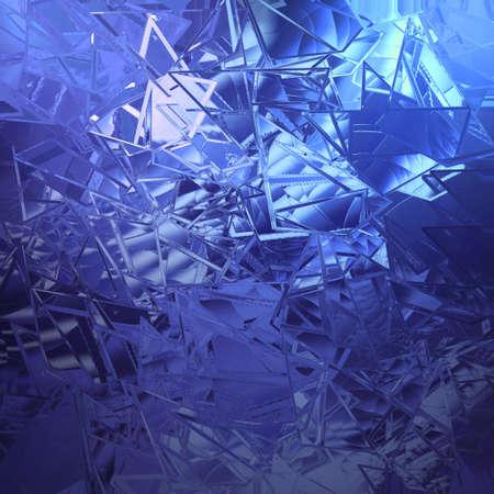 fondo azul abstracto añicos de vidrio con textura hermosa luz blanca de fondo tiene afilados trozos irregulares de ilustración de vidrios rotos para web diseño de la cubierta aplicación de fondo o folleto publicitario con clase Foto de archivo
