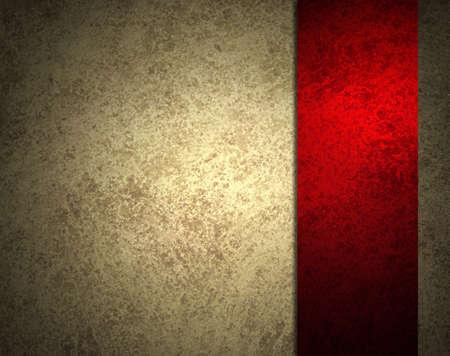 navidad elegante: fondo abstracto blanco con franja roja de la cinta o barra lateral en la marco de la frontera, tiene fondo vintage grunge dise�o de textura con la iluminaci�n y elegante fondo de Navidad, de color beige de papel de estraza o papel tapiz Foto de archivo