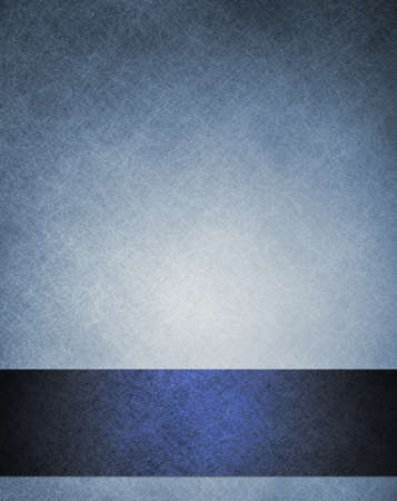 old blue abstract background elegant layout with dark blue ribbon stripe down border frame for book cover design or brochure or web template, has vintage grunge background texture design faded color Stock Photo - 14365808
