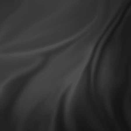 drapery: abstract black background elegant cloth or liquid wave illustration of wavy folds of silk texture satin or velvet material or black luxurious background wallpaper design of curves black material Stock Photo