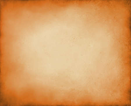 abstract orange background autumn colors, elegant fall background for thanksgiving or halloween with vintage grunge background texture peach center, pastel orange paper or parchment for brochure Stock Photo