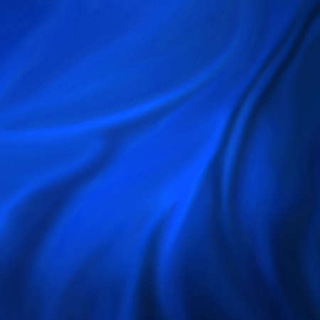 blue backgrounds: elegant blue background abstract cloth or liquid wave illustration of wavy folds of silk texture satin or velvet material or blue luxurious background wallpaper design of elegant curves blue material Stock Photo