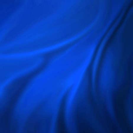 blue: eleganten blauen Hintergrund abstrakte Tuch oder flüssige Wellen Illustration der wellenförmigen Falten Seide Textur Satin oder Samt oder blau luxuriöse Hintergrundbild Design eleganten Kurven blau Material