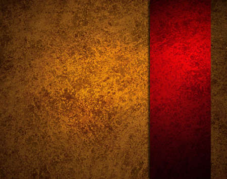 abstract red background with gold ribbon stripe or side bar on border frame, has vintage grunge background texture design with lighting, elegant Christmas background, red luxurious paper or wallpaper
