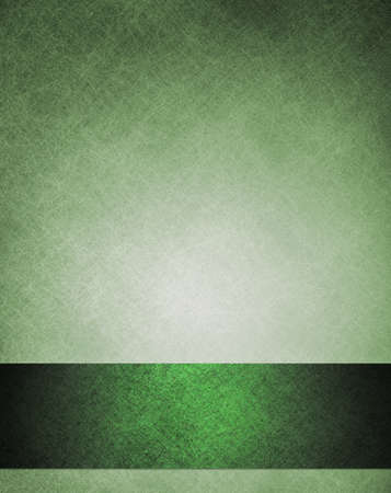 old green abstract background elegant layout with dark green ribbon stripe down border frame for book cover design or brochure or web template, has vintage grunge background texture design faded color Stock Photo - 14674453