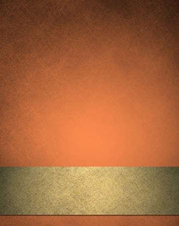 cobre: fondo abstracto anaranjado, cinta de oro de lujo lujoso textura vintage fondo del grunge, elegantes colores del oto�o para el oto�o o Acci�n de Gracias o Halloween