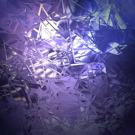 art piece: abstract purple blue background shattered glass