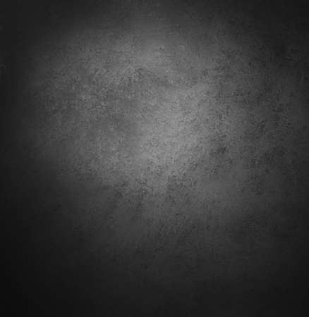 black textured background: abstract black background, old black vignette border frame on white gray background, vintage grunge background texture design, black and white monochrome background for printing brochures or papers Stock Photo