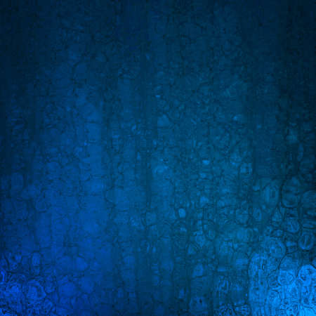 wall paper texture: elegant blue background with abstract vintage grunge crackle background texture and soft corner lighting with dark black vignette shadows on border of frame with copy space highlight; old blue paper Stock Photo