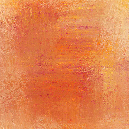 abstract orange background paper layout with rough messy old background vintage texture or wallpaper with red yellow peach streaks and country vintage background for halloween or autumn color design photo