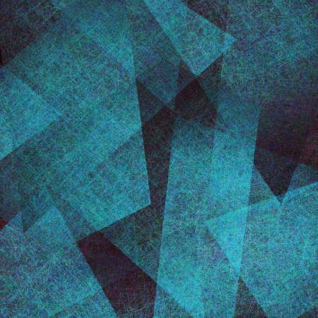 arte moderno: fondo abstracto azul, negro elegante textura grunge viejo pergamino en el diseño de fondo abstracto arte disposición triángulo azul con capas de papel de pergamino contraste, fondo azul arte moderno Foto de archivo