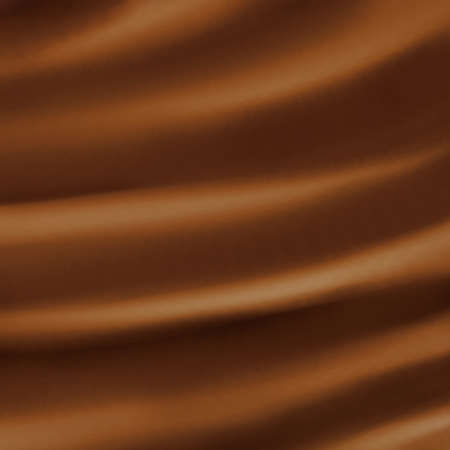 brown background abstract cloth or liquid waves illustration of wavy folds of silk texture satin or velvet material or brown luxurious background wallpaper design of elegant curves  Brown material   Stock Illustration - 14793046