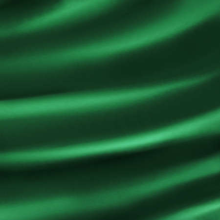 abstract green background cloth illustration of dark green folds creases in silky velvet or satin material for elegant Christmas background decoration design for dark luxurious background web template