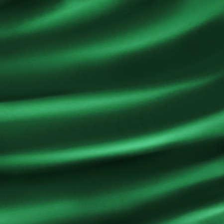 Abstracte groene achtergrond doek illustratie van donker groen plooien plooien in zijdeachtig fluweel of satijn materiaal voor elegante Kerst achtergrond decoratie voor donkere luxe achtergrond web template Stockfoto - 14793069