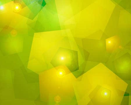 lens flare: astratto luce sfondo giallo verde di forme geometriche in astratto modello moderno art design di luci bokeh e flare lente a strati per Natale o sfondo decorazione vacanza o una brochure Archivio Fotografico