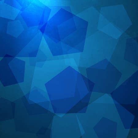 abstract blue background of geometric shapes layered in random modern art composition on texture and soft elegant corner spotlight for web template background  photo