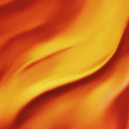 우아한 오렌지 배경 추상 화재 또는 실크 질감의 새틴 소재의 물결 모양의 주름의 불 같은 파도 그림