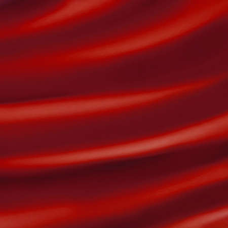 red background abstract cloth or liquid wave illustration of wavy folds of silk texture satin or velvet material or red luxurious Christmas background wallpaper design of elegant curves red material  Stock Illustration - 15139316