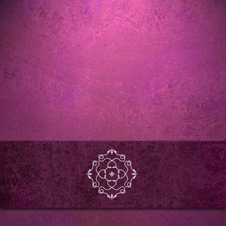 feminine background: abstract purple pink background formal design of elegant dark purple velvet ribbon seal illustration on vintage grunge background texture color for card background or party menu or web brochure ad