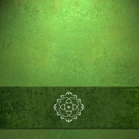 certificate template: abstract green background formal design of elegant dark green velvet ribbon seal illustration on vintage grunge background texture color for Christmas card background or party menu or web brochure ad