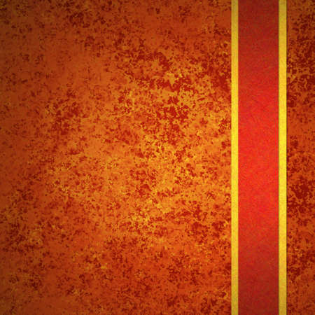 solid background: abstract orange background autumn and red gold ribbon for fall and thanksgiving ads and brochures has elegant vintage grunge background texture design in warm rich background grungy wall, Halloween Stock Photo