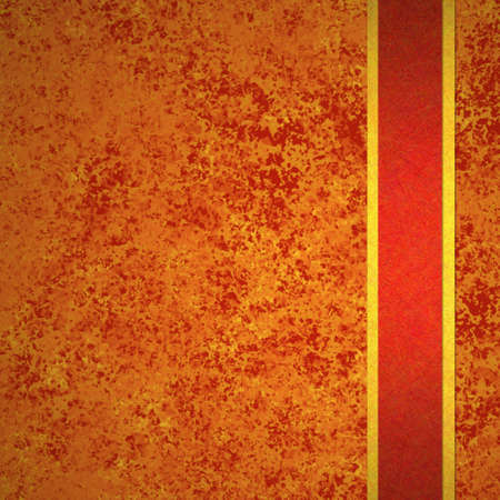 abstract orange background autumn and red gold ribbon for fall and thanksgiving ads and brochures has elegant vintage grunge background texture design in warm rich background grungy wall, Halloween Stock Photo - 15139291