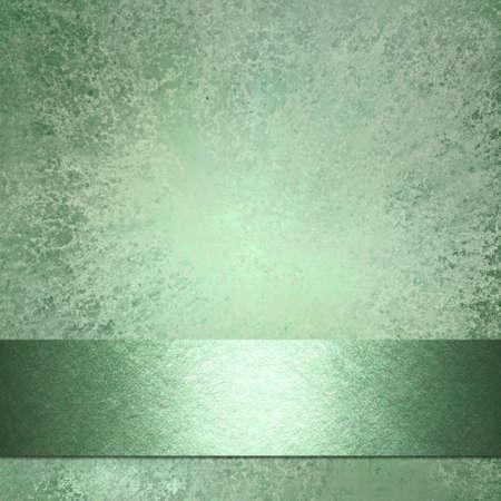柔らかい色あせた抽象的な緑の背景暗いリボン ストライプ ウェブサイト テンプレートまたはパンフレット広告レイアウト設計または本の表紙やタ