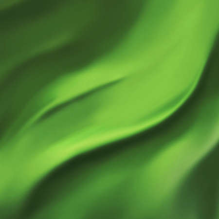 elegant green background abstract cloth or liquid wave illustration of wavy folds of silk texture satin or velvet material or green Christmas background design of elegant curves dark green material Stock Illustration - 15139308