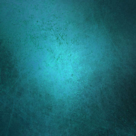 teal background: abstract blue background with vintage grunge background texture design with elegant sponge paint on wall illustration for scrapbook paper, or web background templates, grungy old background paint  Stock Photo