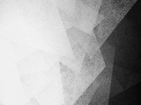 cuadros blanco y negro: diseño abstracto fondo blanco geométrica de las formas débiles y el patrón de las líneas de fondo de pantalla y fondo de la vendimia grunge textura de fondo gris monocromo en blanco y negro para la plantilla de folleto o web