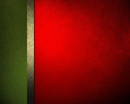 christmas cover: elegant Christmas background red green ribbon and sidebar with vintage grunge background texture and gradient lighting, abstract formal background menu or website template background or brochure ad