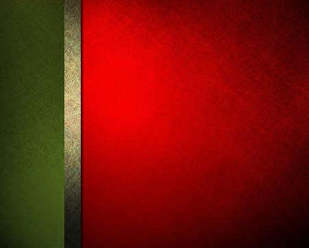 web side: Navidad elegante fondo rojo cinta verde y la barra lateral con textura vintage fondo grunge y la iluminaci�n pendiente, men� de resumen de antecedentes formales o de fondo plantilla de p�gina web o folleto de publicidad