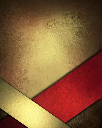 background brown: red gold background design layout or abstract Christmas background Stock Photo