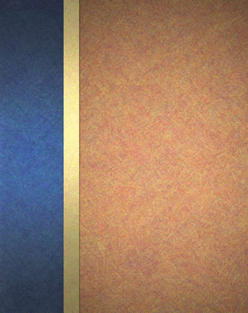 formal blue: abstract red orange and blue background web template or book cover with gold trim ribbon decoration and dark blue side banner layout with texture for elegant formal background paper Stock Photo