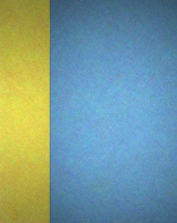 Abstract gold und blauen Hintergrund Web-Template oder Bucheinband with gold trim Band Dekoration und seitlichen banner Layout mit Textur für elegante formale Hintergrundpapier Standard-Bild - 15139240