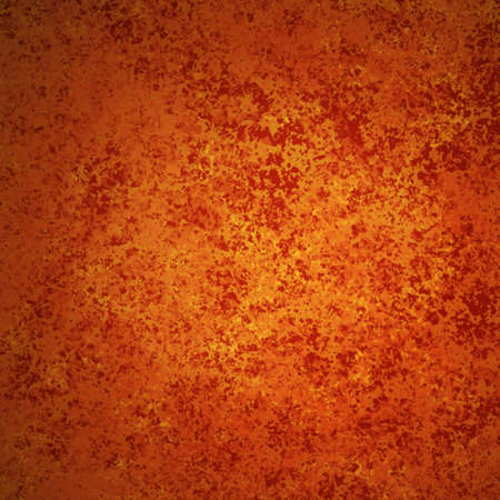 abstract orange background autumn colors of red gold for fall and thanksgiving ads and brochures has elegant vintage grunge background texture design in warm rich background grungy wall, Halloween Stock Photo - 15139318