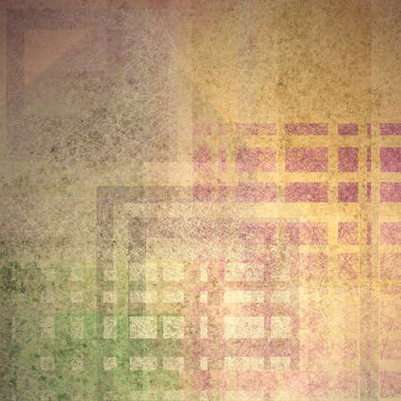 abstract brown background with pink green and beige colored design elements in random pattern with vintage grunge background texture and old faded grungy distressed linen canvas style design layout  photo