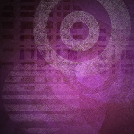 wall paper texture: abstract purple background of colorful shapes on pink background and white circle target pattern of vintage grunge background texture and light for old brochure with modern graphic art design elements