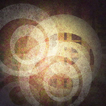 abstract design elements of white parchment or linen canvas on light and dark brown background or grungy abstract background with vintage grunge background texture with random circle shape patterns  photo