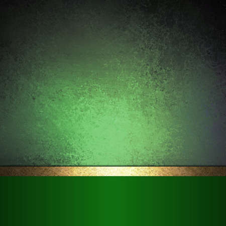 abstract green background Christmas design with vintage grunge background texture green paper wallpaper for brochure or website background, elegant luxury gold ribbon side bar banner for web template photo