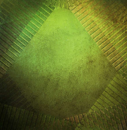 abstract green background frame design elements of diagonal geometric lines for graphic art use, green Christmas background with gold and brown lighting and vintage grunge background texture, luxury Stock Photo - 16568517
