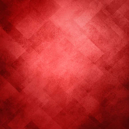 abstract red background image pattern design on old vintage grunge background texture, red paper diagonal block pattern with geometric shapes and line design elements, soft luxury Christmas background Stock Photo - 16587719