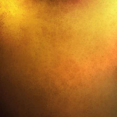 金: 抽象的なゴールドの背景にオレンジ黄色のペンキ、黒国境ビンテージ グランジ背景テクスチャ。 写真素材