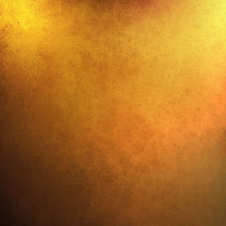 abstract gold background orange yellow paint, black border vintage grunge background texture.