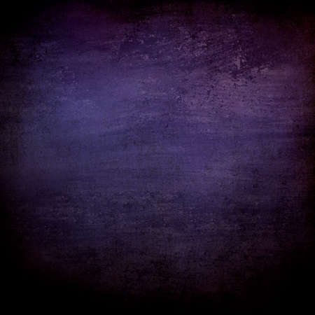 abstract black background or purple blue background with lots of rough distressed vintage grunge background texture design, elegant blank background, black border edges with center spotlight text area Banco de Imagens